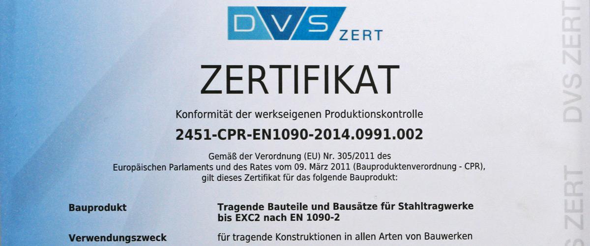 Zertifizierung und Qualitätssicherung | Metallbau Hackl Hutthurm